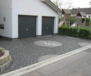Granit Kleinstein Schwarz Muster
