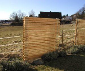 Holz Sichtschutzelement