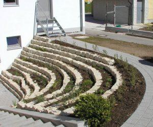 Lichthof Juratrockenmauer